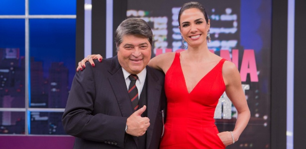 Datena grava com Luciana Gimenez - Artur Igrecias/Divulgação