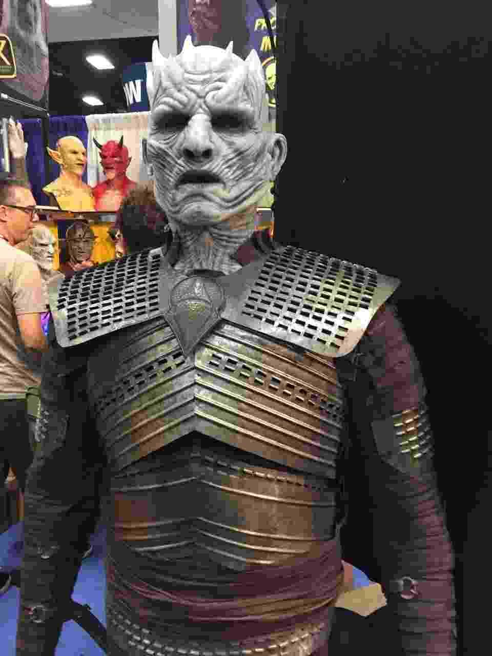 """20.jul.2016 - O grande vilão da série """"Game of Thrones"""" marcou presença na San Diego Comic-Con. Uma estátua do Rei da Noite, líder dos Caminhantes Brancos, está em exibição no evento - Felipe Branco Cruz/UOL"""