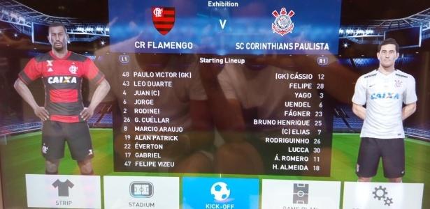 Flamengo e Corinthians são times exclusivos do game PES