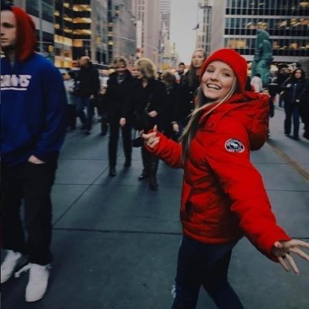 28.dez.2016 - Larissa Manoela comemora aniversário em Nova York - Reprodução/Instagram/lmanoelaoficial