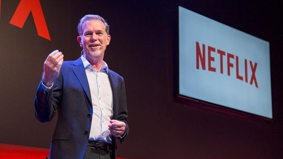 Reed Hastings, CEO e co-fundador da Netflix, dá palestra sobre a empresa em São Paulo - Henrique Manreza/Divulgação