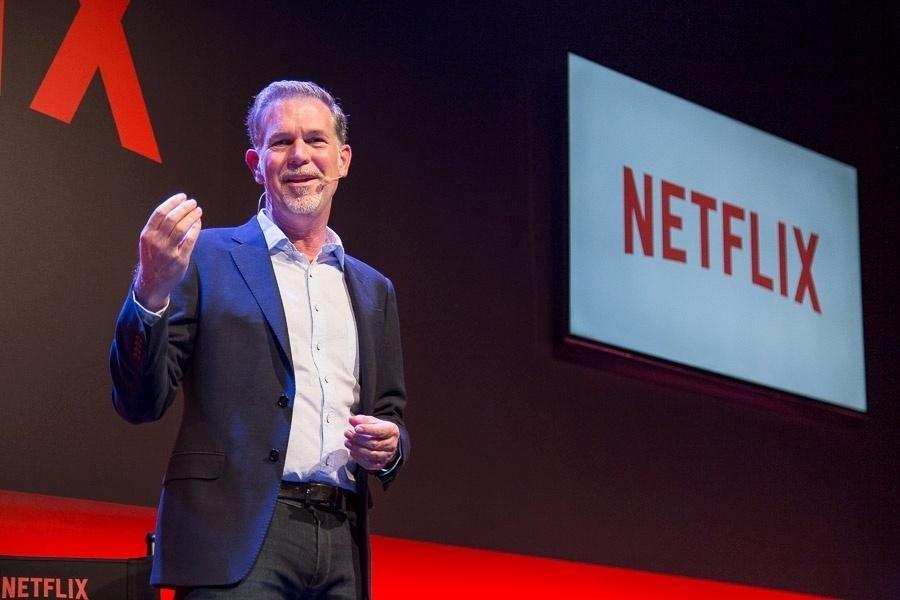 Reed Hastings, CEO e co-fundador da Netflix, dá palestra sobre a empresa em São Paulo