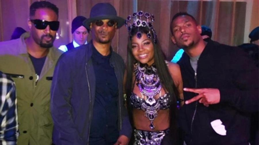 Ludmilla festeja 22 anos com ao lado de artistas internacionais: Shawn Wayans, Damon Wayans e Marlon Wayans - Reprodução/Instagram