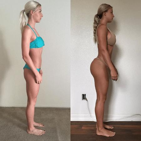 Marta Mielczarska antes e depois de se alimentar melhor - Reprodução/Instagram @martamielczarskaa