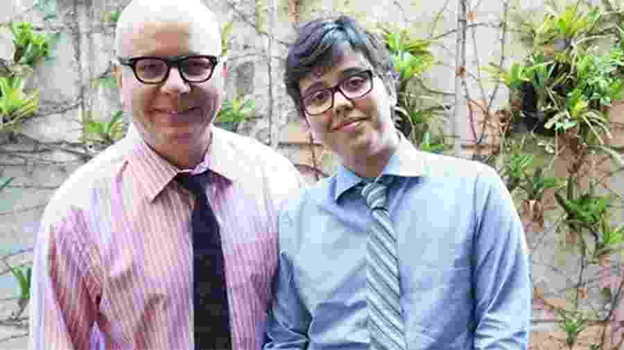 Marcelo Tas e o filho Luc, de 28 anos, que é transgênero  - Reprodução/Instagram