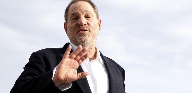 "O produtor e ""poderoso chefão""de Hollywood Harvey Weinstein"