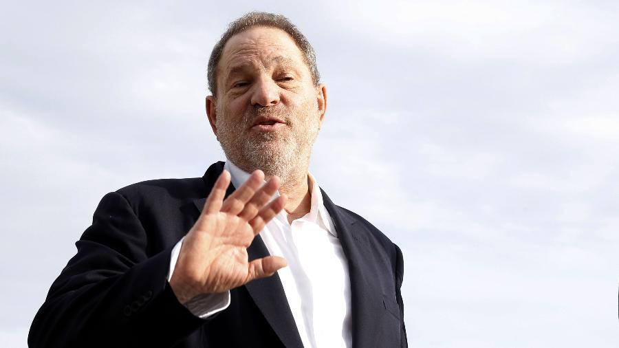"""O produtor e """"poderoso chefão""""de Hollywood Harvey Weinstein - VALERY HACHE/AFP"""