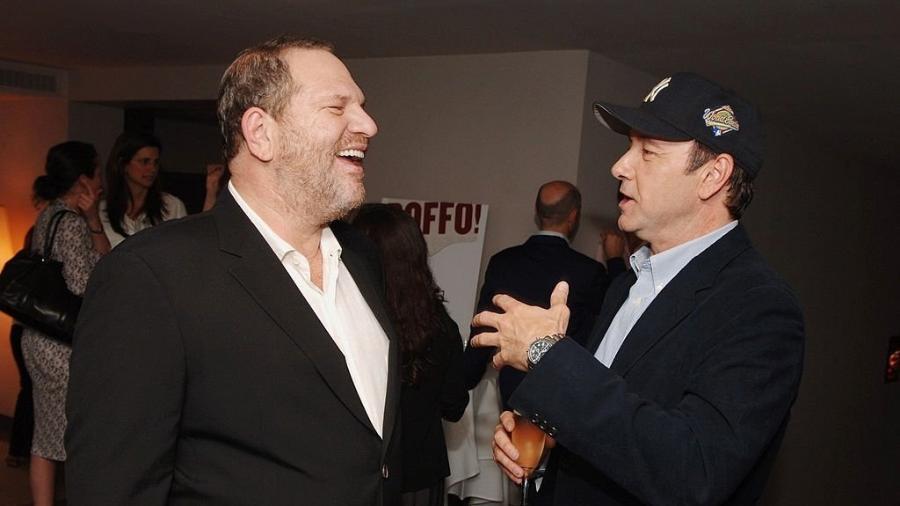 Harvey Weinstein e Kevin Spacey reunidos em evento - Reprodução