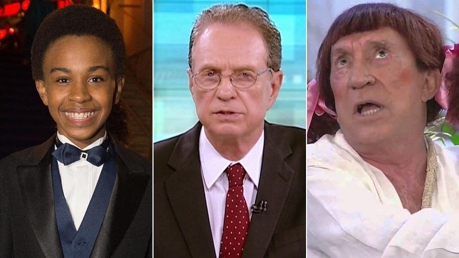 Jean Paulo Campos, Hermano Henning e Moacyr Franco, alguns dos demitidos pelo SBT em 2017 - Montagem/UOL
