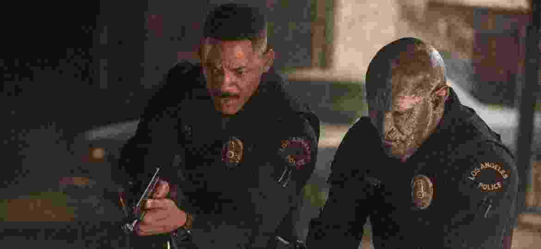 "Will Smith e Joel Edgerton vivem Daryl Ward e Nick Jackoby no filme ""Bright"", da Netflix - Matt Kennedy/Netflix"