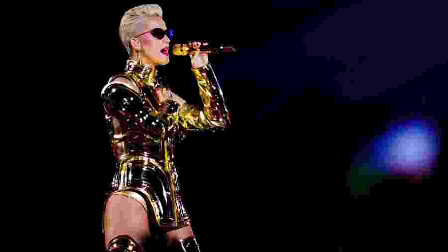 "Katy Perry se apresenta no estádio Allianz Parque, em São Paulo, na turnê ""Witness: The Tour"" - Mariana Pekin/UOL"