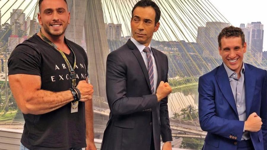 Felipe Felk, Cesar Tralli e Samy Dana - Reprodução/Instagram