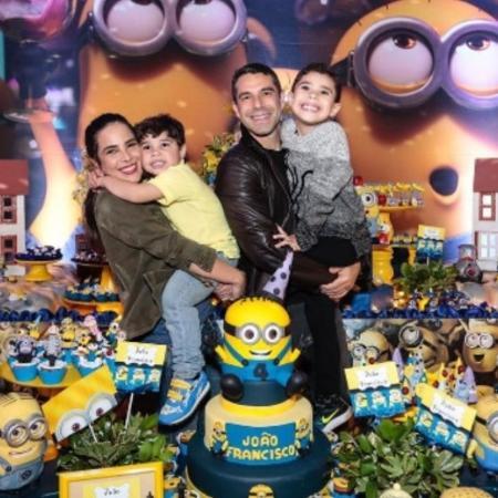Wanessa Camargo e Marcus Buaiz com os filhos, José Marcus e João Francisco - Reprodução/Instagram
