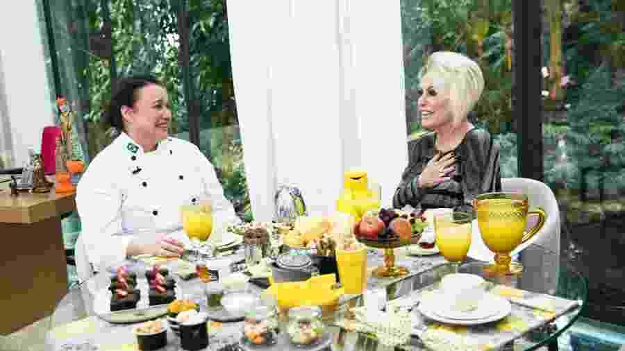 """Em """"Segundo Sol"""", Nice (Kelzy Ecard) se emociona ao tomar café da manhã com Ana Maria no """"Mais Você""""  - João Miguel Júnior/Globo"""