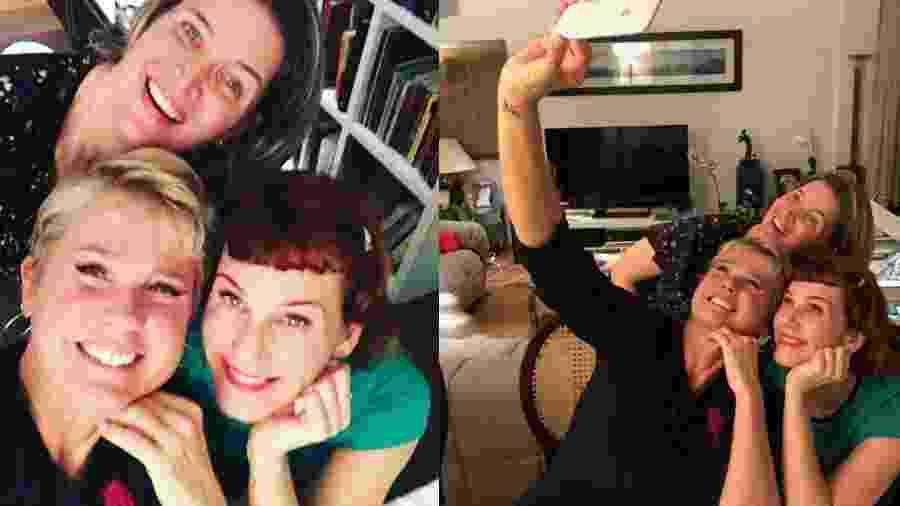 Xuxa reencontra as ex-paquitas Andrea Veiga e Luise Wischermann  - Reprodução/Instagram