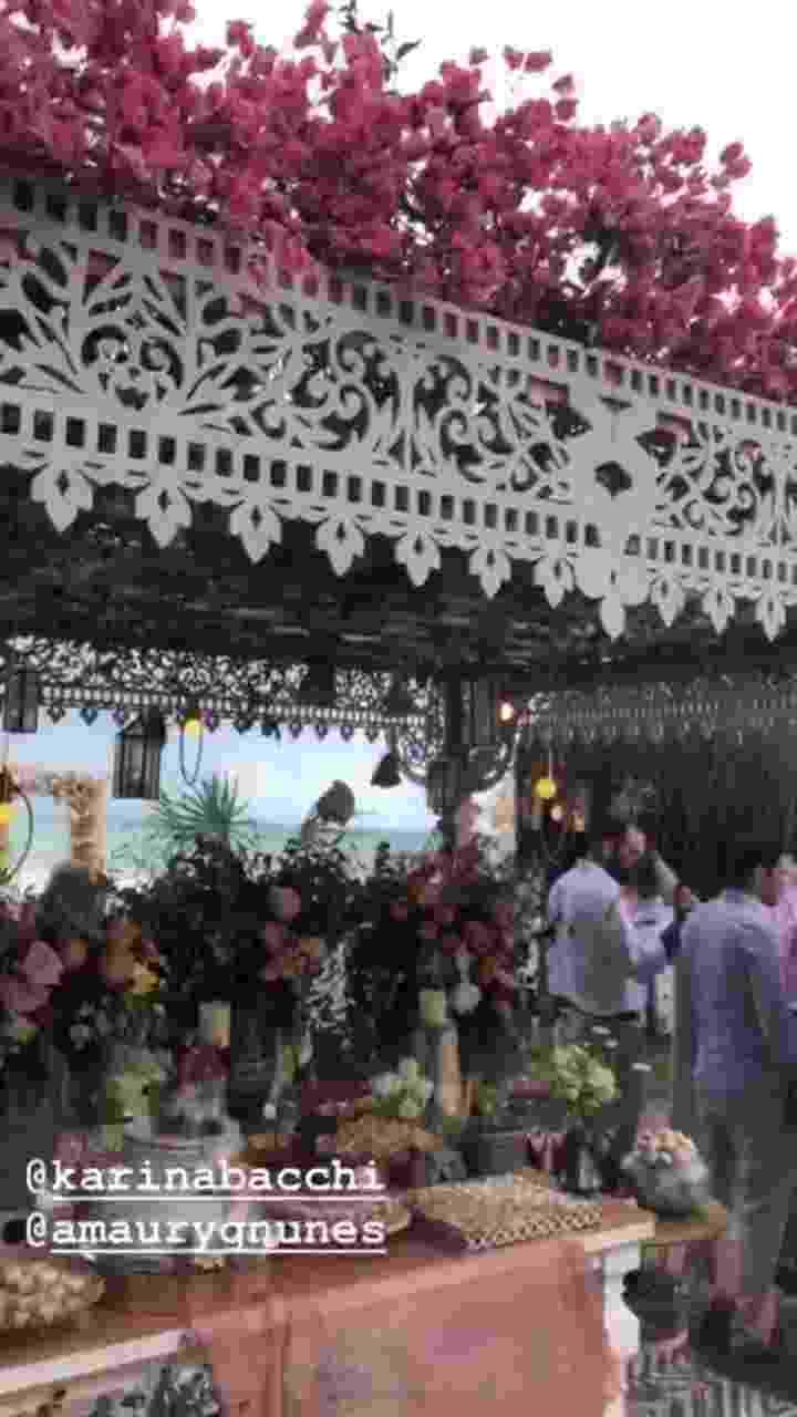 Detalhes da decoração do casamento de Karina com Amaury Nunes, em um resort de Alagoas - Reprodução/Instagram