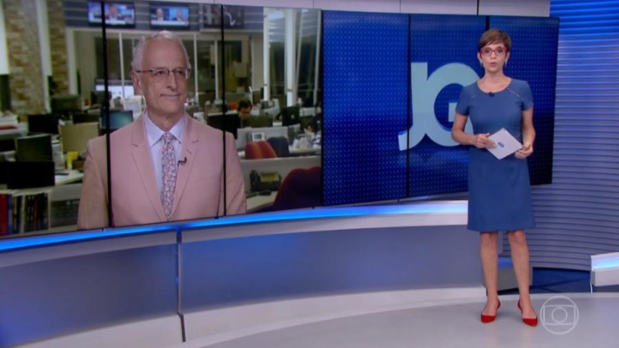 Renata Lo Prete e Jorge Pontual  negam indireta para ministra Damares Alves - Reprodução/TV Globo