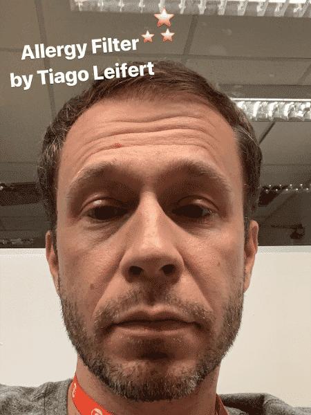 Tiago Leifert explica alergia nos olhos e brinca de tutorial de maquiagem - Reprodução/Instagram