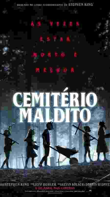 """Cartaz de """"Cemitério Maldito"""" - Divulgação - Divulgação"""