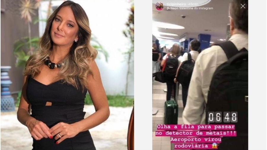 Ticiane Pinheiro publicou fila em aeroporto e comparou com rodoviária - Reprodução/Instagram