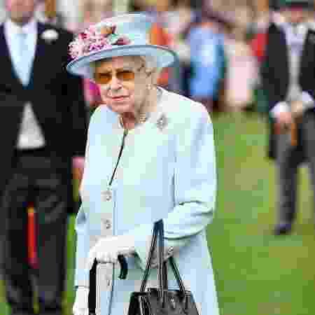 21.mai.2019 - Rainha Elizabeth na Garden Party, no Palácio de Buckingham - AFP/Getty Images