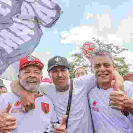 Lula, Mano Brown e Chico Buarque em dezembro de 2017 - Ricardo Stuckert - Ricardo Stuckert