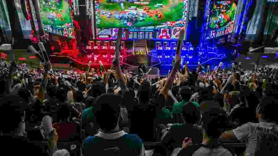 "Final do CBLoL no Allianz Parque, em 2015 - Ricardo D""angelo/Riot Games"