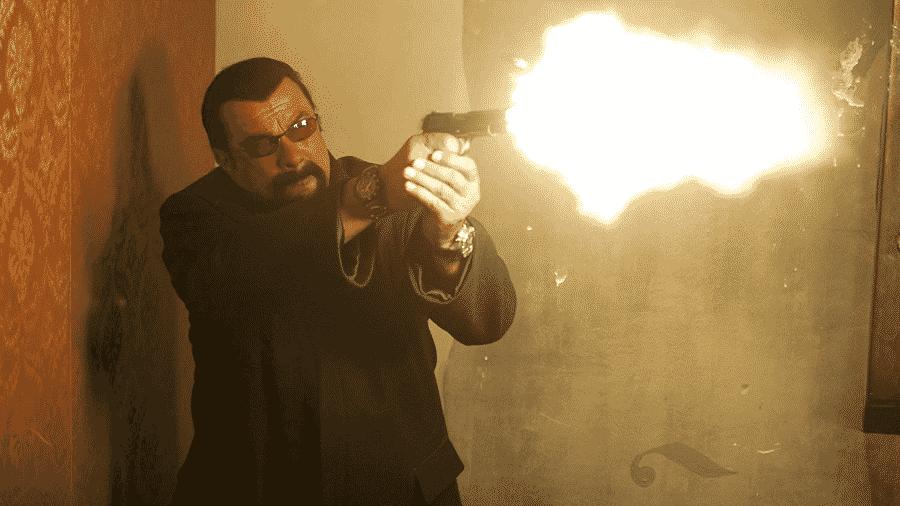 Steven Seagal em cena do filme Absolution - Reprodução