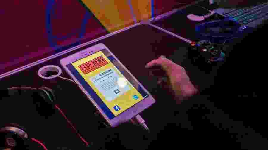 Fake News estava exposto no BIG Festival 2019 - André Lucas/UOL