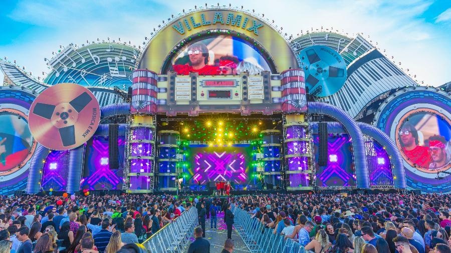 O palco do VillaMix Festival Goiânia, o maior do mundo - Divulgação