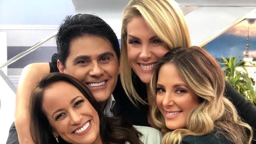 """Renata Alves, César Filho, Ana Hickmann e Ticiane Pinheiro, apresentadores """"Hoje em Dia"""" - Instagram"""