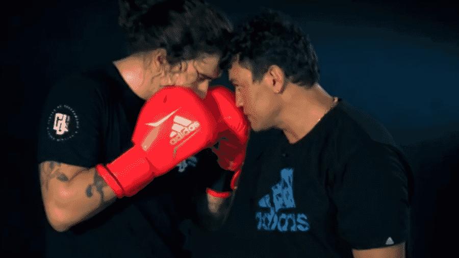 """Whindersson Nunes treina boxe com Popó para quadro do """"Esporte Espetacular"""" - Reprodução/Globoesporte"""