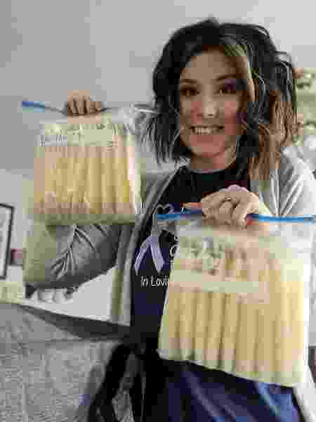 Sierra Strangfeld doou leite materno após perder Samuel - Facebook/Sierra Strangfeld