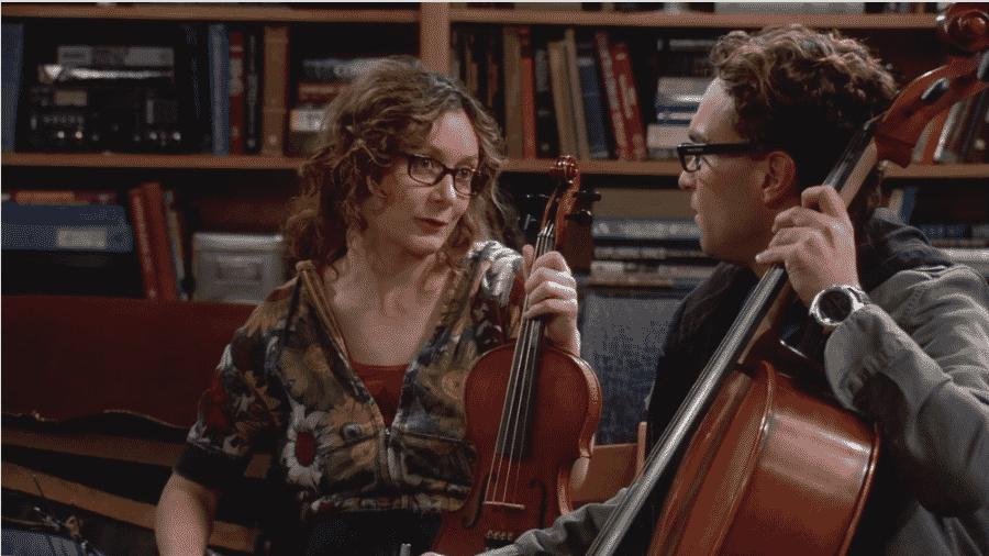 Sara Gilbert em cena de The Big Bang Theory - Reprodução