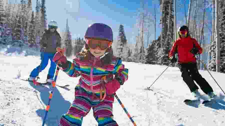 Park city tem estações de esqui com opções desde atividades para crianças e iniciantes a pista para profissionais - Divulgação