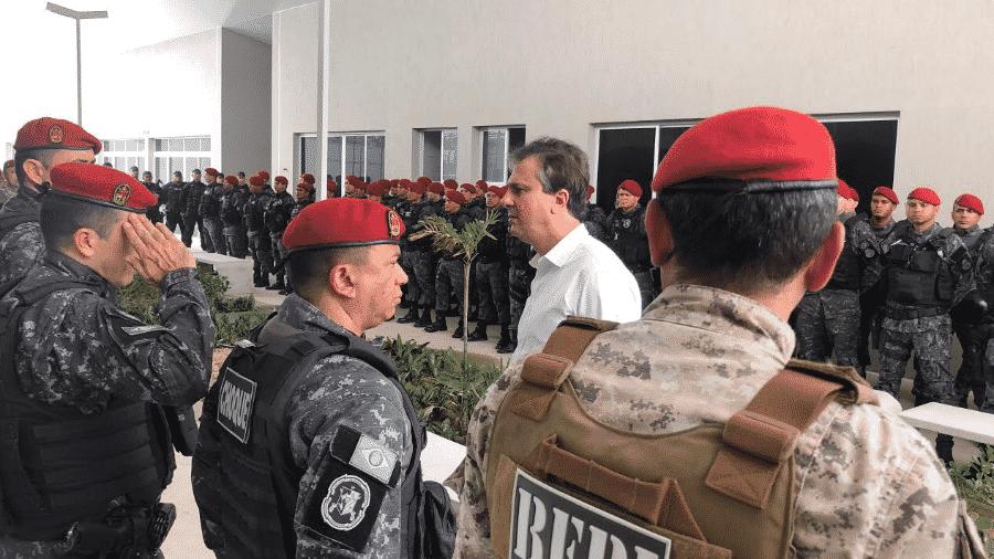 Governador ceará visita policia - Divulgação/Governo do Estado do Ceará