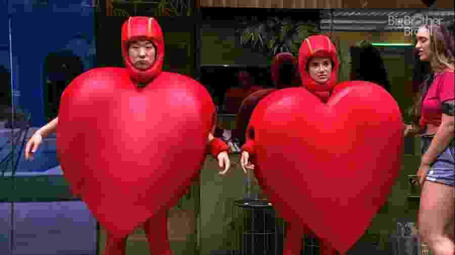 Manu e Pyong cumprem castigo no reality - Reprodução / TV Globo