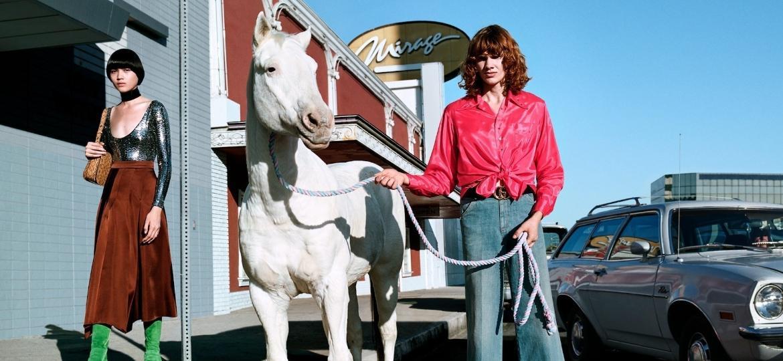 """Campanha """"Of Course a Horse"""" da grife italiana Gucci - Reprodução/Instagram"""