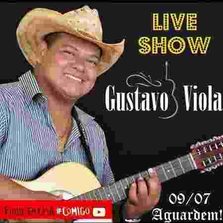Gustavo Viola fará hoje uma live musical no Facebook - Reprodução/Instagram