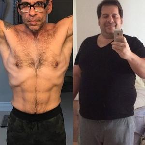 O antes e depois de Leandro Hassum