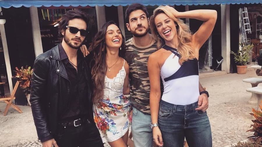 Fiuk, Isis Valverde, Marco Pigossi e Paolla Oliveira - Reprodução/Instagram