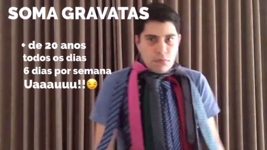 Evaristo Costa pratica o desapego e doa gravatas para instituição beneficente de São José dos Campos, São Paulo - Reprodução/Facebook