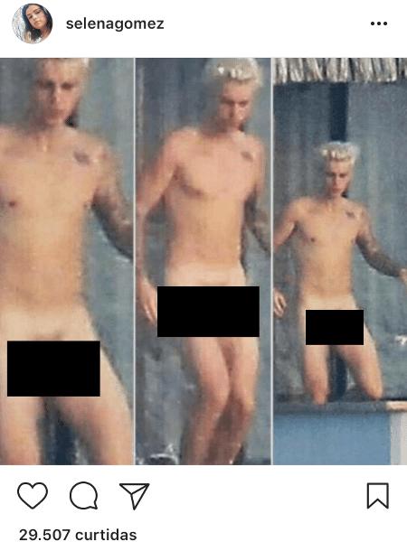 Hacker invadem perfil de Selena Gomez e posta suposta nude de Justin Bieber - Reprodução/Instagram Selena Gomez