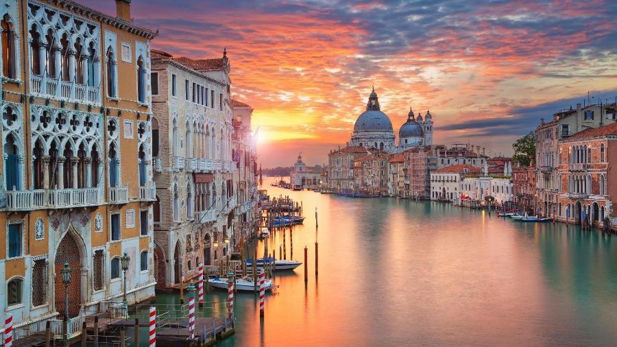 Cidade de Veneza, na Itália - Getty Images
