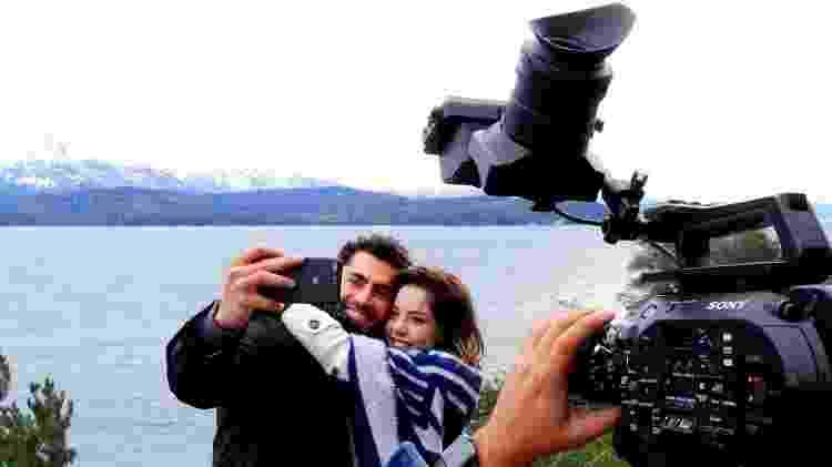 Carlo Porto e Bia Arantes em Bariloche - Gilvan Guimarães/SBT - Gilvan Guimarães/SBT