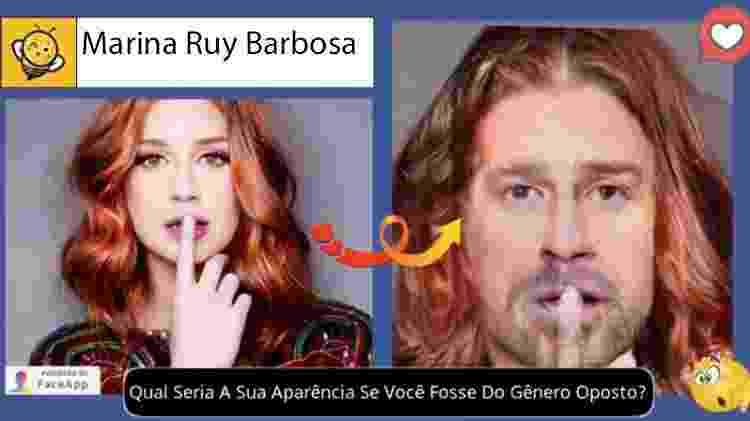Marina Ruy Barbosa se fosse homem, segundo brincadeira no Facebook - Reprodução - Reprodução