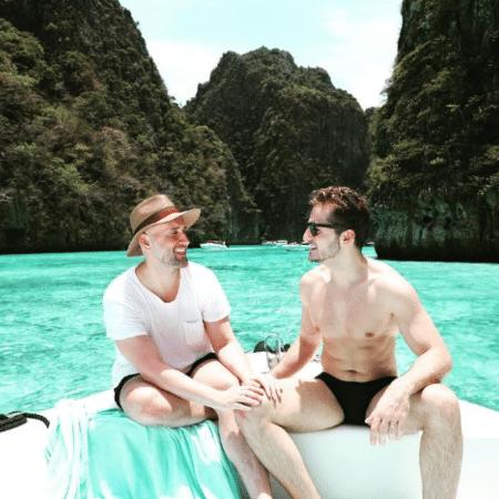 Paulo Gustavo e Thales Bretas na Tailândia - Reprodução/Instagram