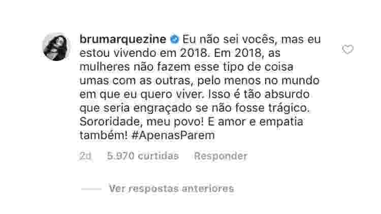 Bruna Marquezine pede mais união entre as mulheres após boatos de que teria barrado a presença de solteiras em camarote onde esteve com Neymar - Reprodução/Instagram - Reprodução/Instagram
