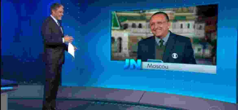 William Bonner fez graça ao falar sobre a seleção argentina que deseja para a Copa do Mundo da Rússia, prevista para começar nesta semana - Reprodução/TV Globo