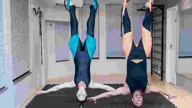 O pilates em suspensão fortalece os músculos do corpo todo, especialmente do abdômen, e aumenta a flexibilidade. - Divulgação/Voll Pilates Group